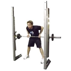 Упражнение тяга гантели