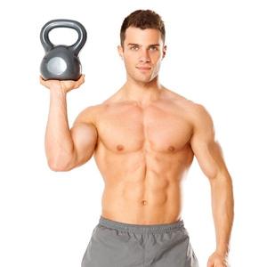 какие мышцы работают с гирей